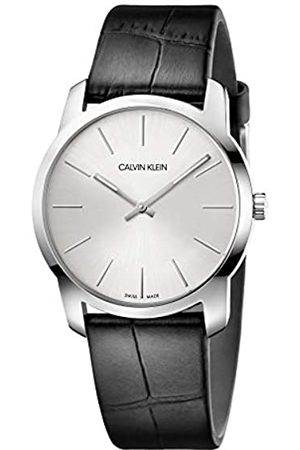 Calvin Klein Unisex Adult Analogue-Digital Quartz Watch with Leather Strap K2G221C6