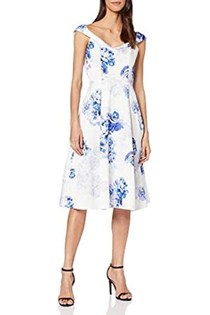 Dorothy Perkins Women's Luxe: Floral Bardot Midi Prom Party Dress