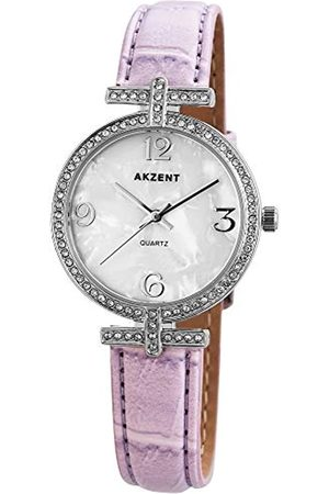 Akzent Womens Analogue Quartz Watch with Leather Strap SS8022200008