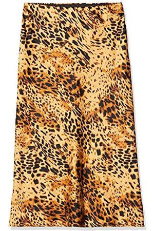 SIMPLY BE Women's Ladies Leopard Print Satin Column Midi Skirt