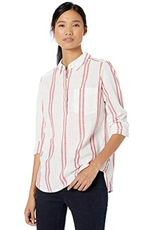 Goodthreads Washed Cotton Popover Shirt /Rose Double Stripe