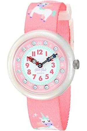 Flik Flak Girls Analogue Quartz Watch with Textile Strap FBNP121