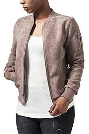 Urban classics Urban Classic Women's Ladies Imitation Suede Bomber Jacket - - Braun (Taupe 782) - XL