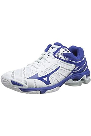 Mizuno Unisex Adult's Wave Voltage Volleyball Shoes, (Wht/Trueblue 21)