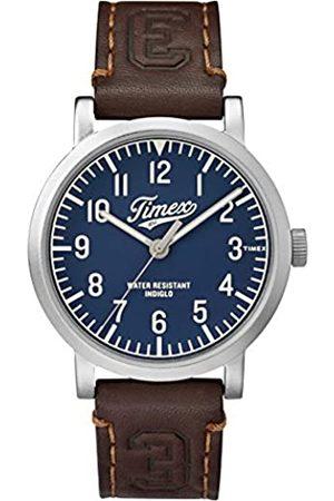 Timex Unisex Analogue Quartz Watch with Leather Strap TW2P96600