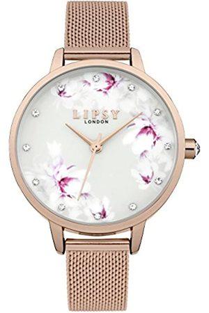 Lipsy London Womens Analogue Classic Quartz Watch with Aluminium Strap LP577