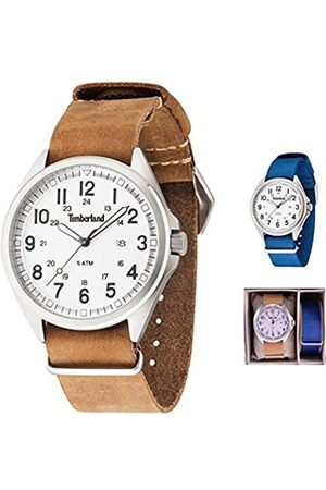 Timberland Men's Analogue Quartz Watch with Leather Strap TBL-GS-14829JS-01-AS