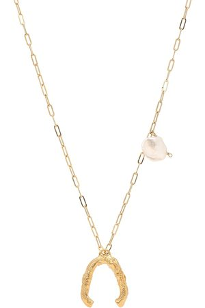 Alighieri The Flashback River 24kt -plated necklace with pearls