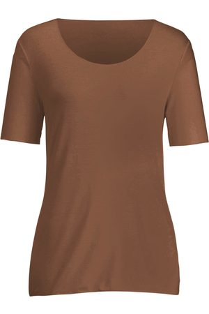 Peter Hahn Round neck top longer 1/2-length sleeves size: 10