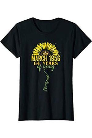 60th Birthday Women/'s T-shirt Made in 1959 Flower Heart  Anniversary gift