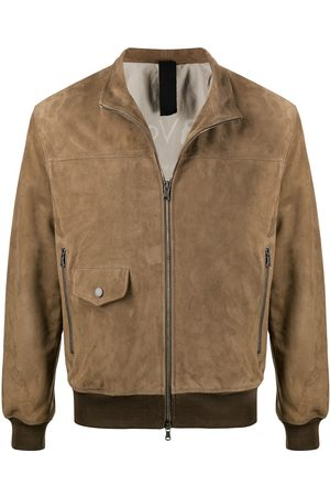 Orciani Suede-effect bomber jacket - Neutrals