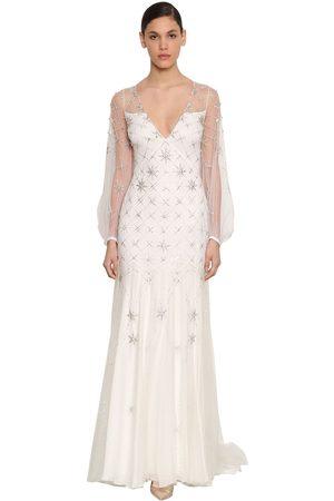 TEMPERLEY LONDON Celeste Embellished Viscose Dress
