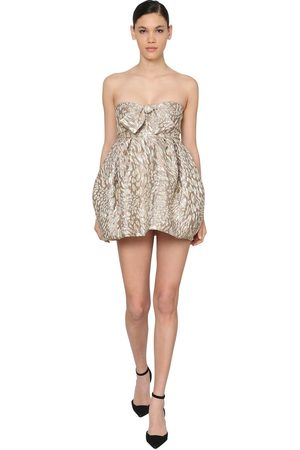 ALEXANDRE VAUTHIER Leopard Jacquard Mini Dress