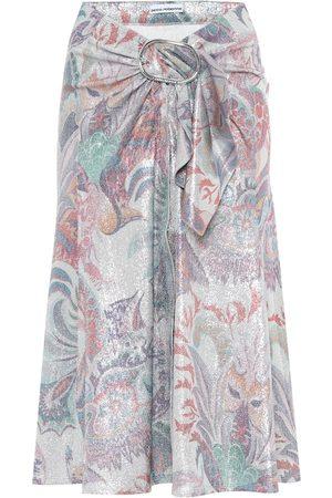 Paco rabanne Printed metallic midi skirt