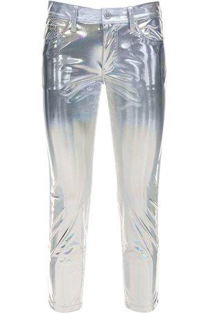 JUNYA WATANABE Women Trousers - Metallic Coated Pants