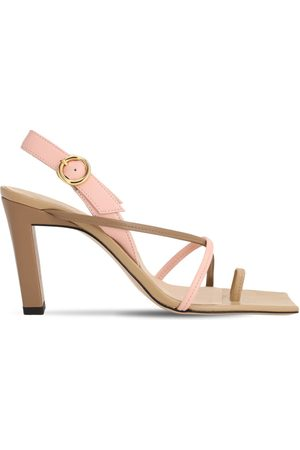 Wandler 85mm Elza Leather Toe Ring Sandals
