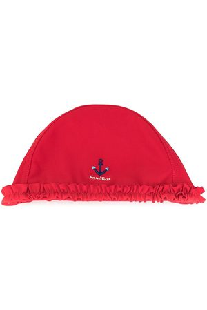 Familiar Embroidered-anchor beach hat