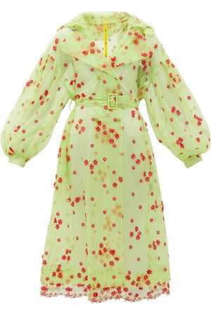 Moncler Simone Rocha Coronilla Daisy-embroidered Tulle Coat - Womens