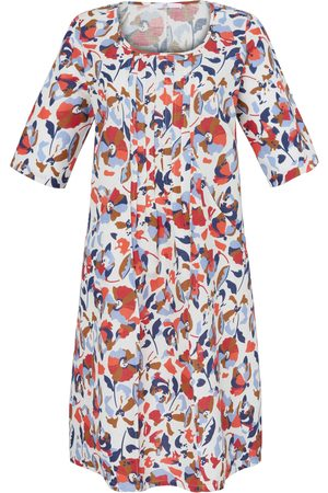 Emilia Lay Dress 3/4-length roll-up sleeves multicoloured size: 14