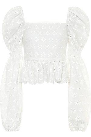 Caroline Constas Wren embroidered cotton top