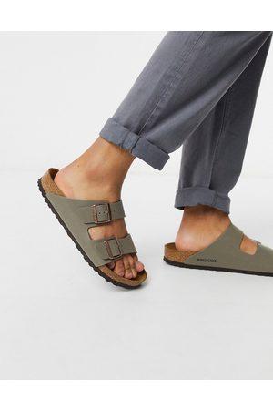Birkenstock Arizona birko-flor sandals in stone-Neutral