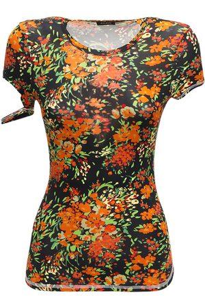 Atlein Floral Print Viscose Jersey Top