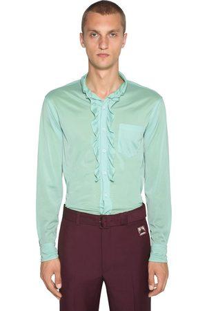 Prada Ruffled Jersey Shirt