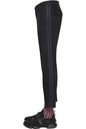 Prada 18cm Stretch Cotton Twill Pants