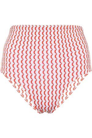 ASCENO Deia wave-print bikini bottoms