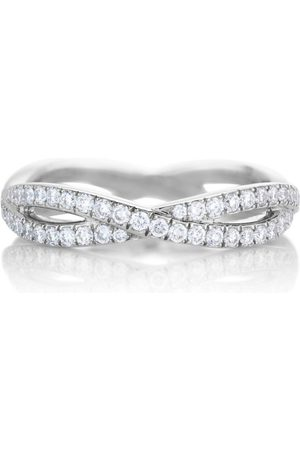 De Beers White Gold and Diamond Infinity Band
