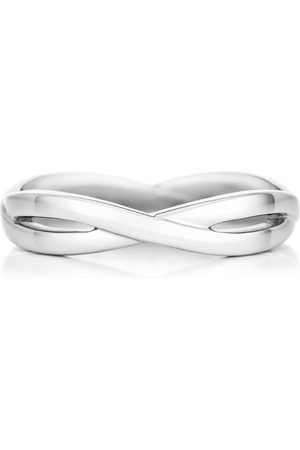 De Beers White Gold Infinity Band (3mm)