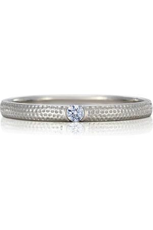 De Beers White Gold and Diamond Azulea Ring