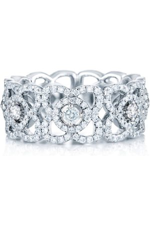 De Beers White Gold Enchanted Lotus Band