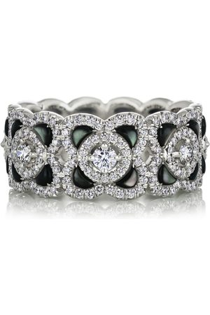 De Beers White Gold and Diamond Enchanted Lotus Ring