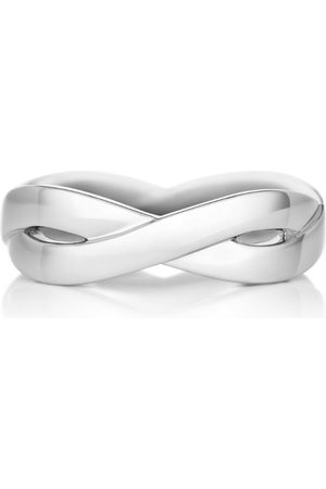 De Beers White Gold Infinity Band (5mm)