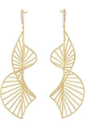 Hstern Yellow and Diamond Grupo Corpo Earrings