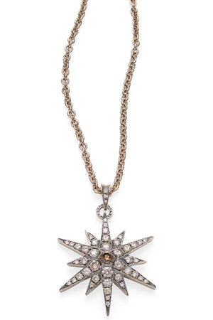 Hstern Noble and Diamond Stars Pendant Necklace