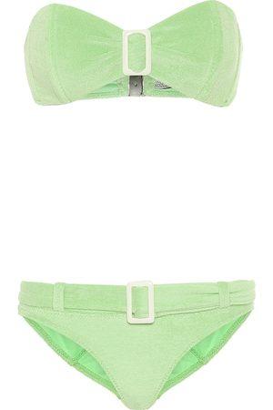 Lisa Marie Fernandez Women Bikinis - Buckle bandeau terrycloth bikini