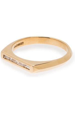 Lizzie Mandler 18kt yellow Knife Edge diamond ring