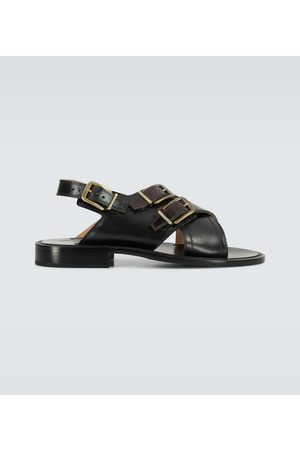 DRIES VAN NOTEN Leather buckled sandals