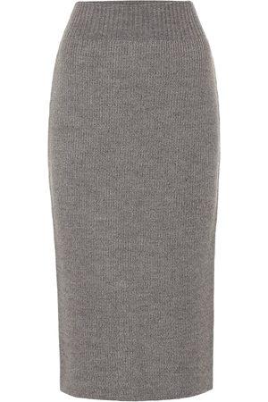 DRIES VAN NOTEN Wool-blend pencil skirt