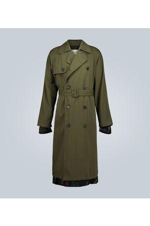 DRIES VAN NOTEN Double-breasted cotton trench coat