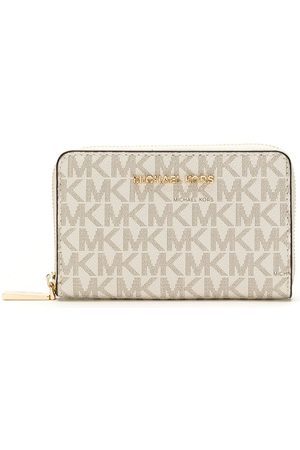 Michael Kors Small Monogram zipped wallet - Neutrals