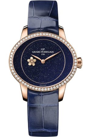 Girard Perregaux Rose Gold and Diamond Cat's Eye Plum Blossom Watch 35.4mm