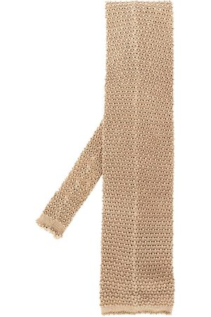 Gianfranco Ferré 1990s knitted square tie - Neutrals