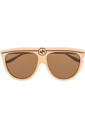 Gucci Aviator frame sunglasses - Neutrals