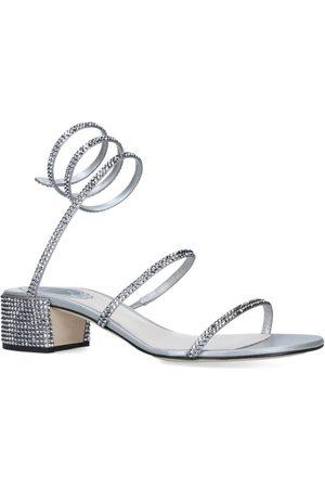RENÉ CAOVILLA Embellished Twirl Sandals 40