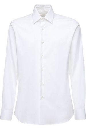 Prada Slim Fit Stretch Cotton Poplin Shirt