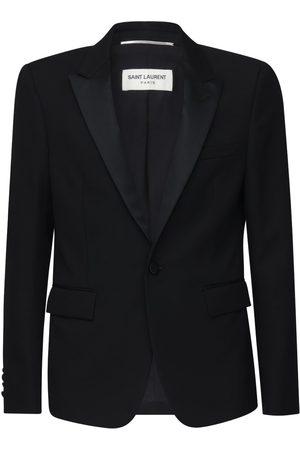 Saint Laurent Wool Gabardine Tuxedo Jacket