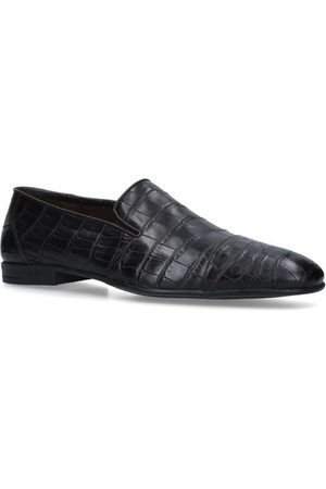 Brotini Crocodile Leather Slippers